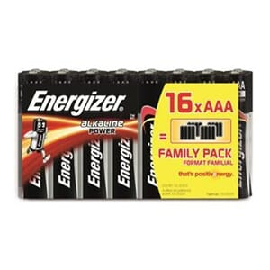 BATTERI ENERGIZER AAA (16) ALKALINE POWER