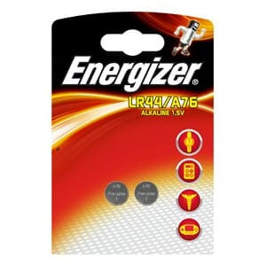 BATTERI ENERGIZER LR44 / A76 (2) ALKALINE POWER
