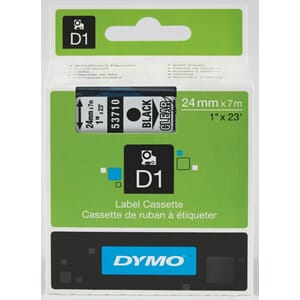 TAPE DYMO D1 SORT/KLAR 24MMX7M BB1