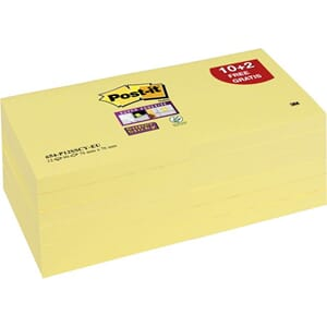 POST-IT SUPERST  GUL 76X76MM 654