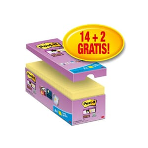POST-IT® SUPERS 76X76MM ØKONOMI GUL (16)