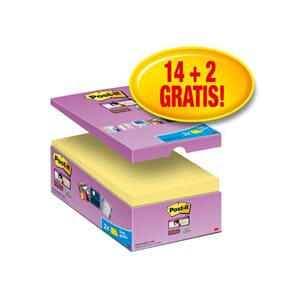 POST-IT® SUPERS 76X127MM ØKONOMI GUL(16)