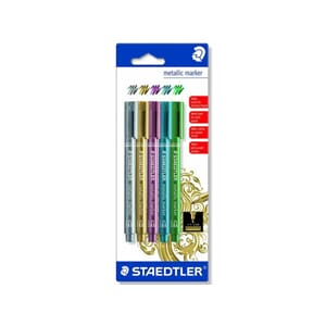 STAEDTLER METALLIC MARKER, 5 ASS. BK