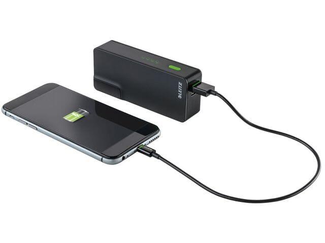 LADER LEITZ USB POWERBANK 3000MAH SORT Blekkhuset.no