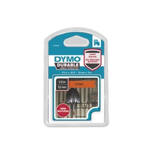 TAPE DYMO D1 12MM X 3M SORT/ORANGE