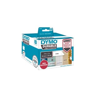 ETIKETT DYMO DURABLE 25MM X 25MM 1700/FP