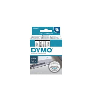 TAPE DYMO D1 9MM X 7M SORT/KLAR