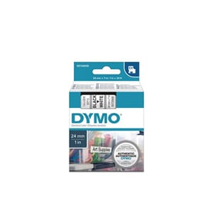 TAPE DYMO D1 SORT/HVIT 24MM X 7M