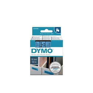 TAPE DYMO D1 12MM X 7M SORT/BLÅ
