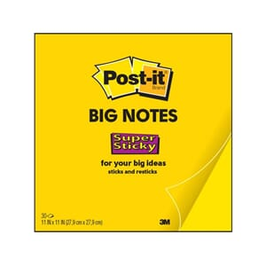 POST-IT® SUPERS BIG NOTES 28X28CM 30 ARK