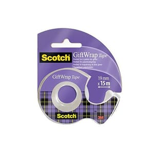TAPE SCOTCH GIFTWRAP M/DISP 19MMX15M