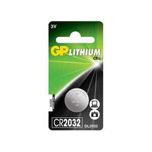 BATTERI GP LITHIUM CR2032 3V
