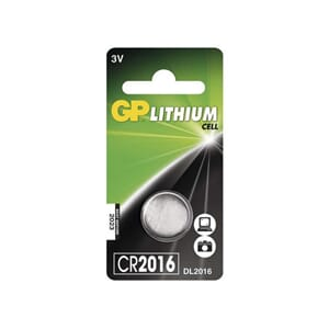 BATTERI GP LITHIUM CR2016 3V