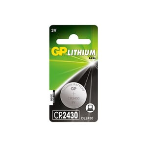 BATTERI GP LITHIUM CR2430 3V