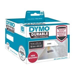 ETIKETT DYMO DURABLE 19MM X 64MM 900/FP