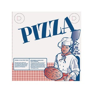 PIZZAESKE 410X410X40MM NØYTRAL