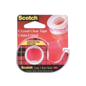 TAPE SCOTCH® CRYSTAL 12MMX10M M/DISP