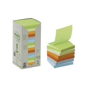 POST-IT® GREEN LINE Z-N 76X76 ASS (16)