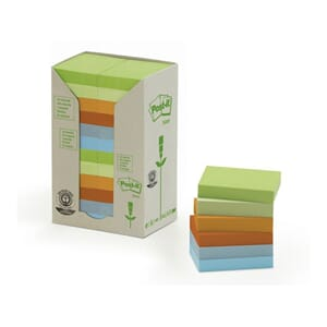 POST-IT® GREEN LINE 38X50MM ASS FRG (24)