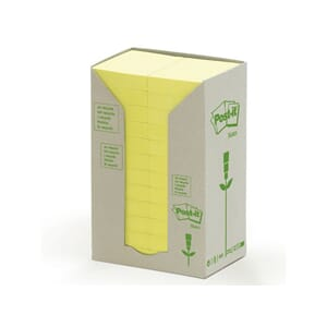 POST-IT® GREEN LINE 38X50MM GUL (24)