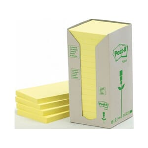 POST-IT RESIRK 6541T GUL 76X76MM(16)