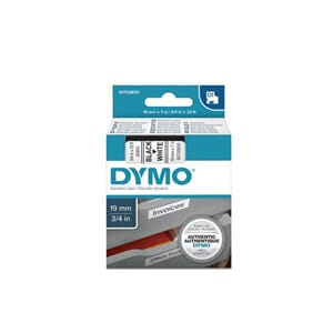 TAPE DYMO D1 SORT/HVIT 19MM X 7M
