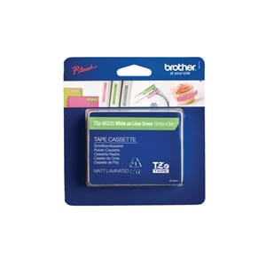 TAPE BROTHER TZE-MQG35 12MMX5M HVIT/LIME