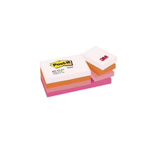POST-IT® NOTATBLOKK 38X51MM ROSA ASS(12)
