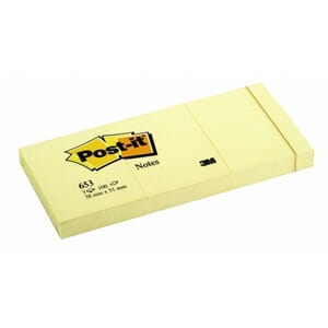 POST-IT® NOTATBLOKK 38X51MM 653 GUL (3)