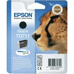 BLEKK EPSON T0711 SORT(7,4ML)