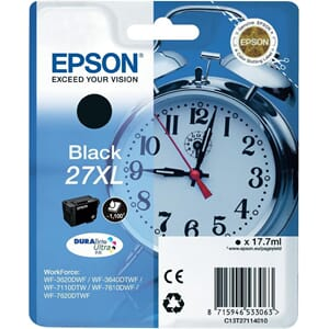 BLEKK EPSON 27XL SORT