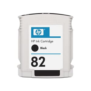 BLEKK HP NO82 SORT INK CARTRIDGE 69ML